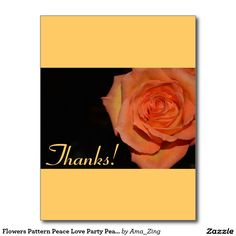 Flowers Pattern Peace Love Party Peace Destiny Postcard