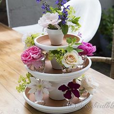 Turn You Leftover Terracotta Pots Into a Centerpiece for Your Table