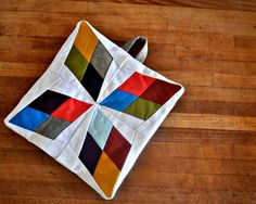 arkansas traveler potholder - reminds me of wooden shaped toys we played with in the 70s