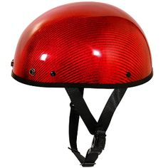 Ultra Slim G Red Carbon Glossy Half Helmet  best Helmets at our motorcycle super store www.SouthernLeathers.com