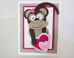 Stampin Up Punch Art Monkey with Video Tutorial photo