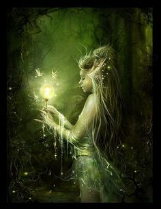 deep green magical forests and fairies - Google Search