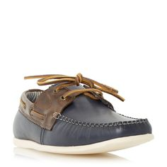 Linea Boat House Two Tone Boat Shoes, Navy