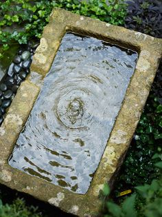 Square water feature square trough cascades water for Garden pond overflow design