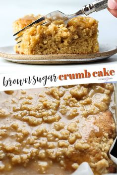 My breakfast dreams came true when I made this Brown Sugar Crumb Cake. It's a rich and soft brown sugar cake topped with a thick layer of brown sugar crumbs AND a brown sugar icing! #brownsugar #crumbcake #coffeecake Burnt Sugar Cake, Brown Sugar Cakes, Sugar Icing, Fall Baking, Holiday Baking, Crumb Coffee Cakes, Crumb Cakes, Sugar Twist, Chocolate Cake Recipe Easy