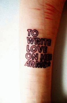 I wanted this tattoo but fansy lettering. cuz I used to be a cutter.