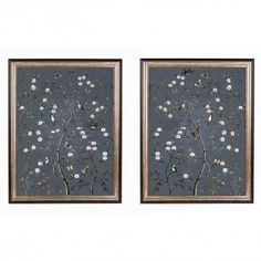 Tree of Life on Grey Pair of Prints - Large