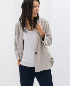 Image 2 of LOOSE FIT JACKET from Zara