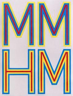 MM-HM - Gouache on paper - Tauba Auerbach