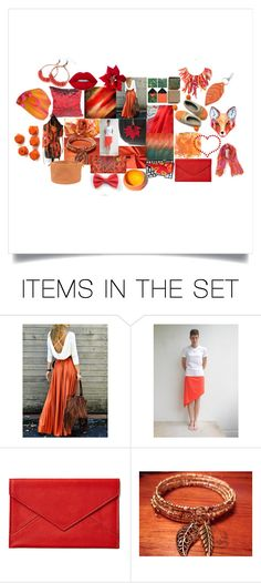 """""""Red & Orange"""" by crystalglowdesign ❤ liked on Polyvore featuring art"""