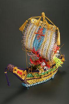 Treasure ship 宝船   ㈲ながさわ結納店  http://www.hakatamizuhiki.co.jp/  #japan#fukuoka