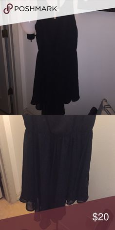 Black cutoff dress Only worn once! Bottom V shape is super cute for a nice night out Eyeshadow Dresses High Low