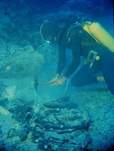 he two oldest wrecks ever excavated, these two Bronze Age ships and their cargoes, were discovered off the coast of Turkey. Excavated in 1960 (the site was resurveyed and small additional finds uncovered in 2010), Cape Gelidonya was the first ancient shipwreck to be dug in its entirety from the seabed by archaeologists. Dating to around 1200 B.C., the vessel was most likely the