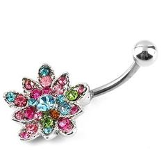 Stainless Rhinestone Flower Crystal Belly Navel Button Bar Ring Piercing HS, http://www.amazon.com/dp/B00FIN2C5U/ref=cm_sw_r_pi_awdm_V1z2sb06WMGEA