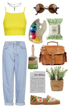 """Ingrid"" by ajxox ❤ liked on Polyvore featuring Boutique, ASOS, Topshop, Dolce&Gabbana, Grafea and Burt's Bees"
