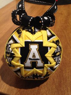 Appalachian State University Quilted Christmas Ornament