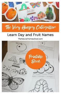 The Very Hungry Caterpillar Craft ~ Day and Fruit Names Printable Book