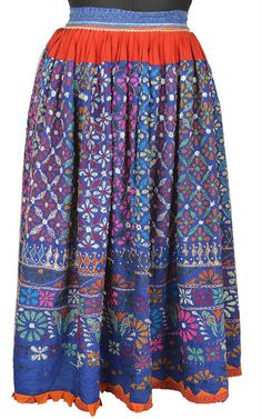 Vintage banjara skirt hobo gypsy belly dance tribal art India BU12