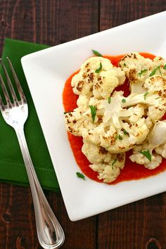 I can NOT get enough Roasted Cauliflower!