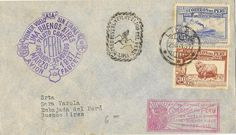 PERU LIMA BUENOS AIRES FIRST FLIGHT 1937 CIRCULATED COVER