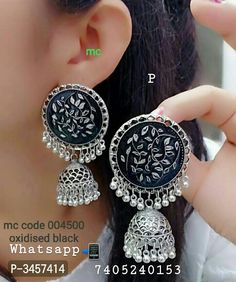 Beautiful And Trending Earrings For Women by CKSTORE - Online shopping for Earrings on MyShopPrime - Indian Jewelry Earrings, Jewelry Design Earrings, Women's Earrings, Jewelery, Indian Jewellery Design, Jewellery Designs, Fashion Jewellery, Indian Accessories, Jewelry Accessories