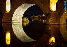 Puente de Piedra con Aceñas de Olivares al fondo (ZAMORA, Spain)    www.eszamora.com    y síguenos en FACEBOOK en www.facebook.com/esZAMORAcom