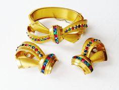 Art Deco Bracelet  Dress Clips Early CORO by IfindUseekVintage, $65.00