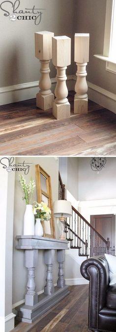 Easy DIY Narrow Wall or Sofa Table for Organisation And Displaying.
