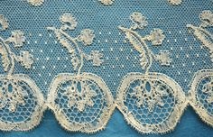 120 Ins Antique Vintage Early 19th C Fine Lille Point Lace Border | eBay Bobbin Lacemaking, Point Lace, Lace Doilies, Lace Border, Lace Making, Antique Lace, Irish Crochet, Lovely Things, Monograms