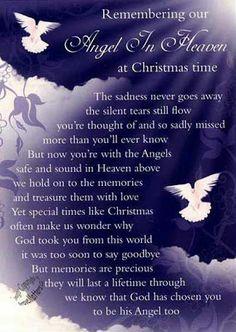 christmas sayings for loved ones in heaven | life inspiration quotes: An angel in heaven at Christmas quote