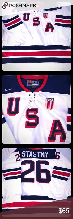 USA! Men's Ice Hockey Jersey Perfect Condition, USA Men's ice hockey jersey. Perfect addition for any Jersey collector. Nike Shirts