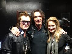 The Hughes's and Rick Springfield backstage @ The Whisky ~ March 27th, 2013.