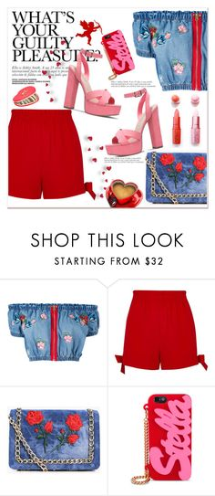 """""""What's Your Guilty Pleasure?"""" by queenvirgo ❤ liked on Polyvore featuring House of Holland, River Island, Boohoo, MAC Cosmetics, STELLA McCARTNEY and Accessorize"""