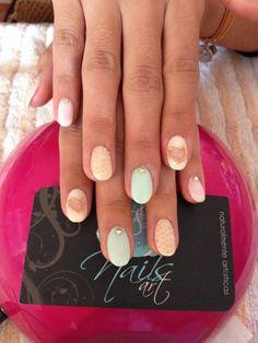 Acrylic nails, nails art, sweet nails.
