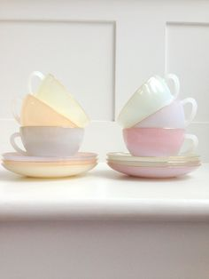 French pastel Tea Set <3 I'm so in love with this....
