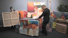 I need one (or more) of these in the worst way. Art storage! Dryden Art and Canvas Keepers