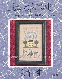 Buy Cross Stitcher in Residence Chart Online at www.sewandso.co.uk