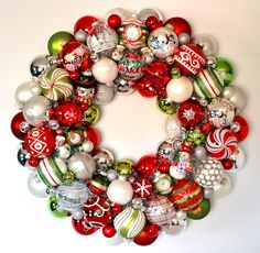 Christmas ornament wreath by Judy Blank Sold