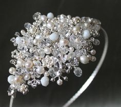 Items similar to Vintage Style Crystal and Pearl Side Tiara on Etsy Bridal Hair Fascinators, Wedding Headpieces, Fascinator Hairstyles, Wedding Accessories, Hair Accessories, Vintage Style, Vintage Fashion, Wedding Headdress, Wedding Inspiration