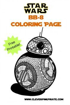 Free Printable Star Wars BB 8 Coloring Page