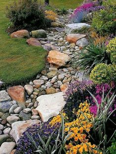 A dry riverbed and creek bed landscaping may be actual work of art. A prosperous rock garden takes quite a little planning! Arranging a garden or yard with landscaping riverbed or creek bed isn't a…MoreMore  #LandscapingandOutdoorSpaces