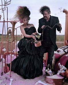 Helena Bonham Carter & Tim Burton: Tales Of the Unexpected - Vogue UK by Tim Walker, December 2008