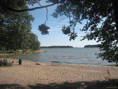 The beach of Karhusaari (Espoo, Finland).