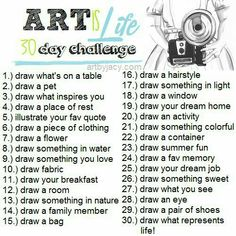 30 day art challenge, or 30 great art journal prompts Doodle Challenge, 30 Day Drawing Challenge, 30 Day Challenge, Challenge Ideas, Sketchbook Challenge, Art Journal Challenge, November Challenge, Sketch Journal, High School Art