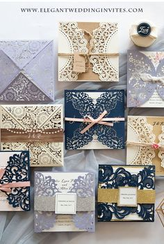 Simple and Elegant Laser Cut Wedding Invitations Collection