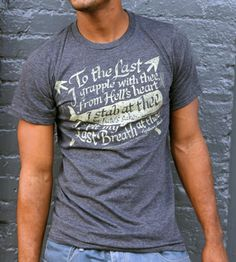 Moby Dick Quote T-Shirt | Men's Clothing | Black Denim | Scoutmob Shoppe | Product Detail