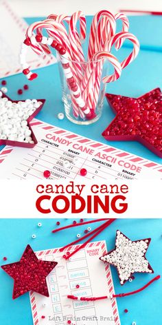 Candy Cane Coding Steam Activity For Kids This Candy Cane Coding Steam Activity For Kids It Teaches Kids The Basics Of Computer Programming In A Fun And Festive Craft Christmas Stem Amp Steam Space Activities For Kids, Christmas Activities For Kids, Steam Activities, Winter Crafts For Kids, Library Activities, Christmas Games, Festive Crafts, Christmas Crafts, Christmas Ideas
