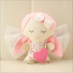 Tooth Fairy Doll - Pink Blossom - by pinkgrapefruit1 on madeit