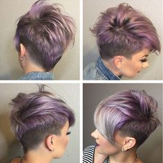 cheap stock photos light purple short hair colour