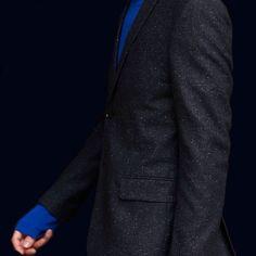 filippa k suit dark blue shades hue navy swedish fashion details long sleeves